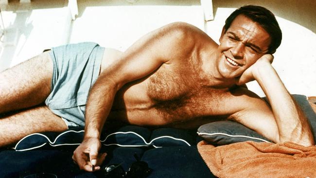 Sean Connery James Bond blue trunks